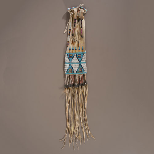 Arapaho Beaded and Quilled Hide Tobacco Bag