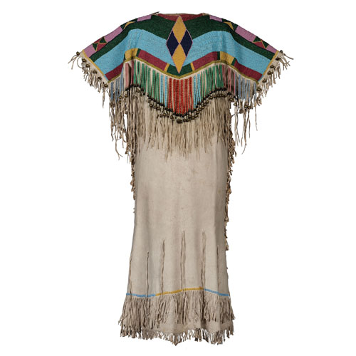 Confederated Salish (Flathead) Beaded Hide Dress, From the Collection of Ronald Bainbridge, MI