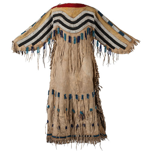 Plateau Pony Beaded Hide Dress