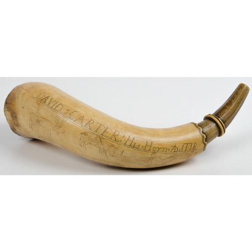 Engraved Powder Horn I