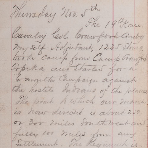 James McLean Steele, 1868-1869 Diary Page