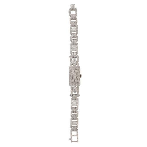 Lucien Piccard Platinum Diamond Surprise Watch
