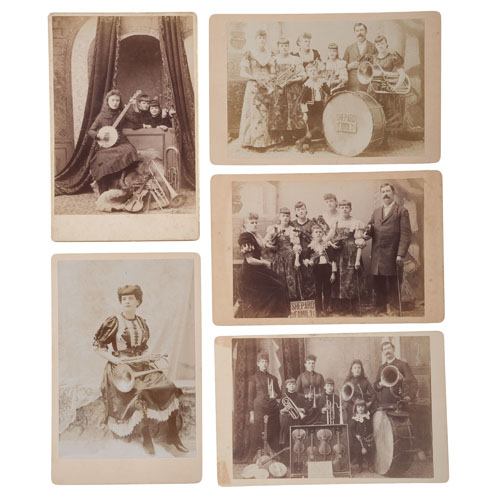 Shepard Family Concert Company, Collection of 13 Cabinet Cards of the Family Band