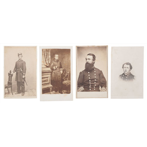 Civil War CDV Album of Capt. Robert Townsend of the Ironclad USS Essex, including Staff and Crew
