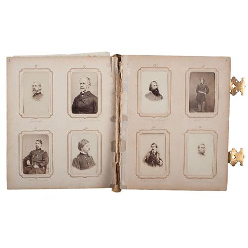 Civil War-Era CDV Album of Prominent American Personalities, including Union