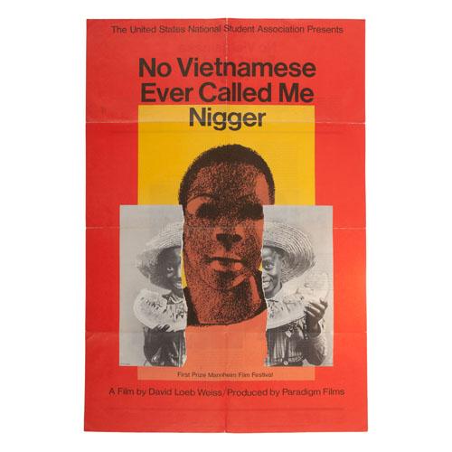 Milton Glaser 1968 Film Poster, No Vietnamese Ever Called Me Nigger