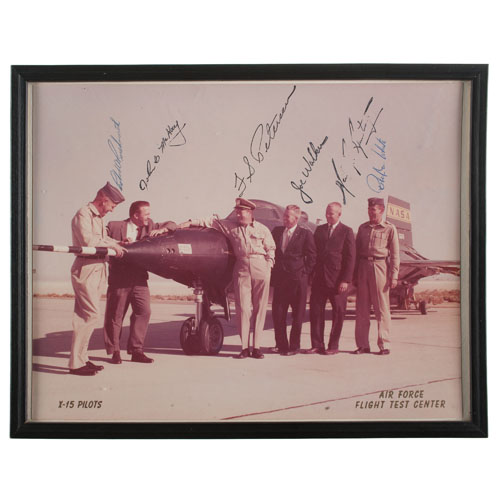 Neil Armstrong and Five Additional X-15 Pilots, Autographed Photograph
