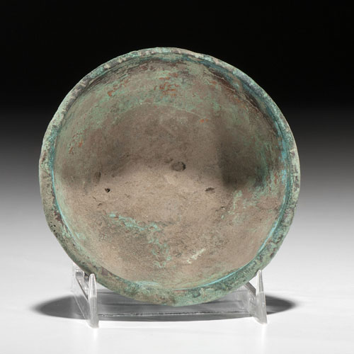 A Rare Copper Hopewell Bowl