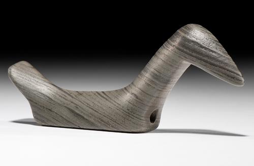 Elongated Slate Long Neck Birdstone