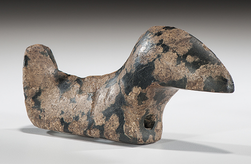 Elongated Porphyry Birdstone, From the Collection of Jan Sorgenfrei