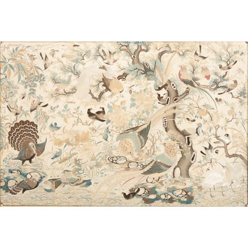 Chinese Silk Embroidery with Birds