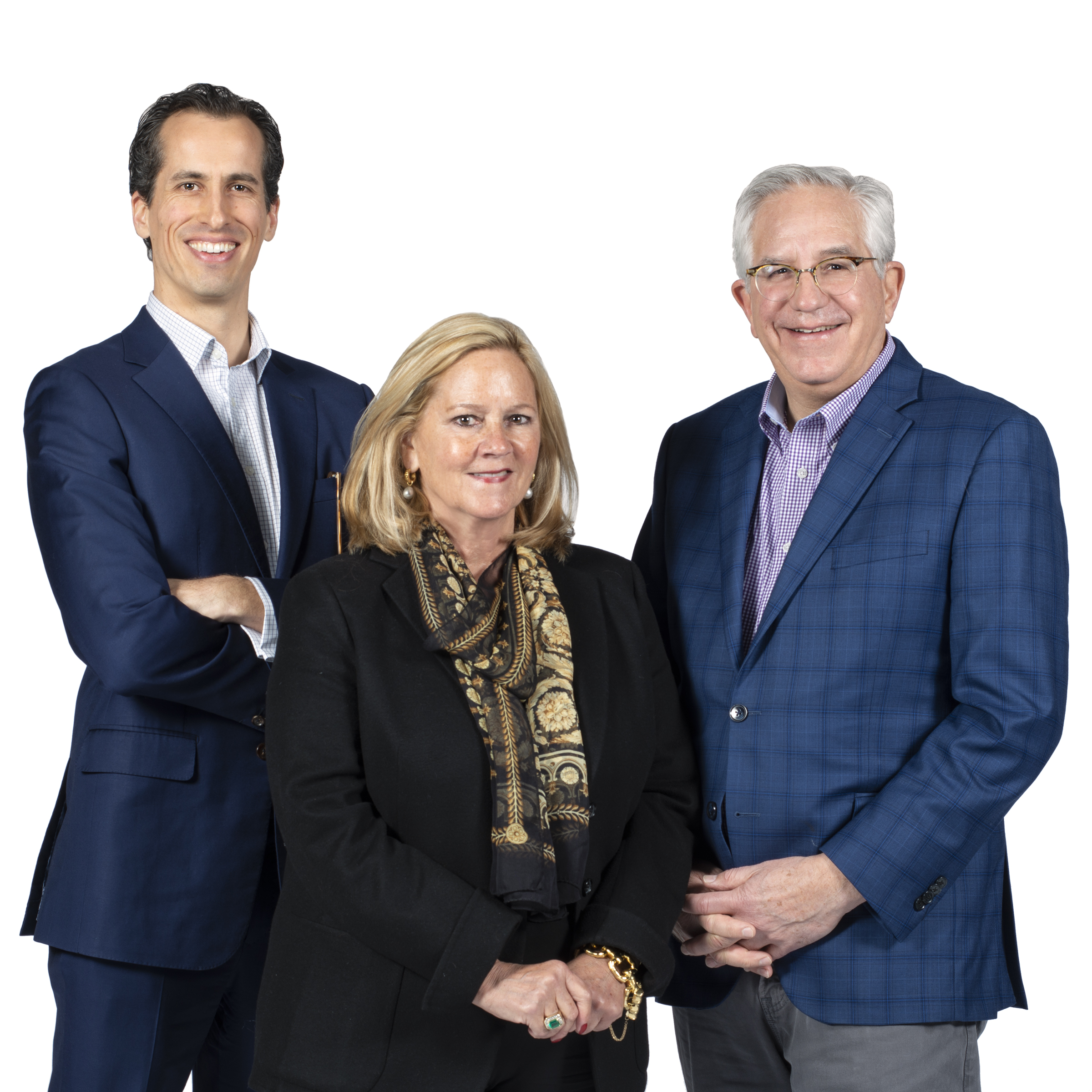 Thomas Galbraith, CEO (Left); Leslie Hindman, Chair (Middle); Wes Cowan, Vice Chair (Right)