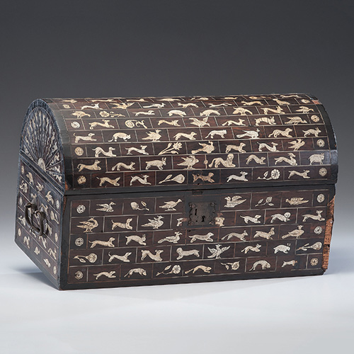 South German Renaissance Bone Inlaid Casket