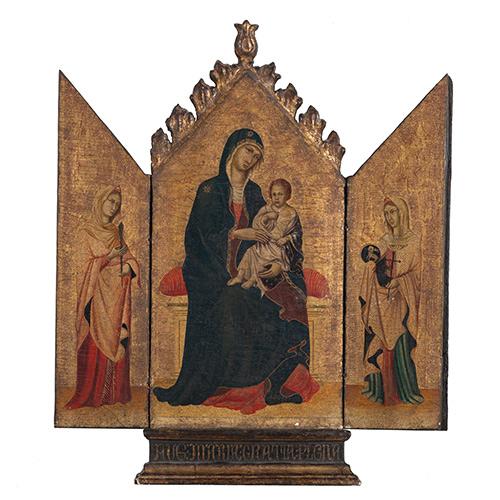 Italian Gothic-style Giltwood Triptych