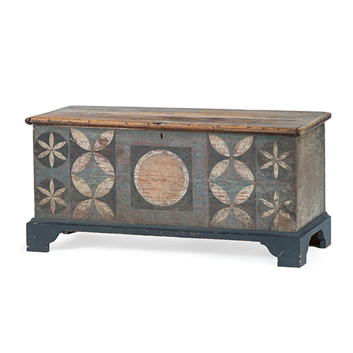 Johannes Spitler Painted Shenandoah Valley Blanket Chest