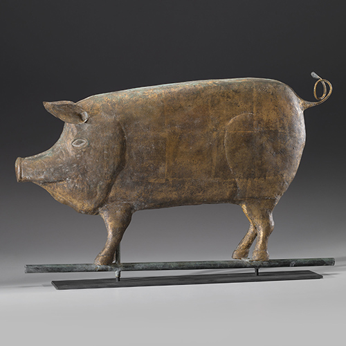 Copper Pig Weathervane