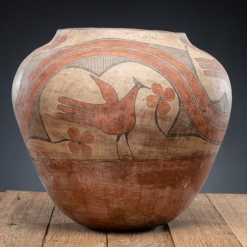 Zia Polychrome Pottery Olla