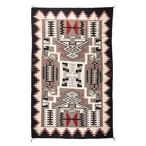 Navajo Storm Pattern Roomsize Weaving