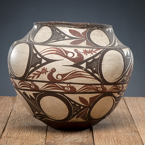 Zuni Polychrome Pottery Olla, From The Harriet and Seymour Koenig Collection