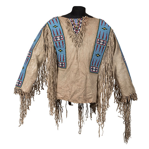 Assiniboine Beaded Hide Shirt