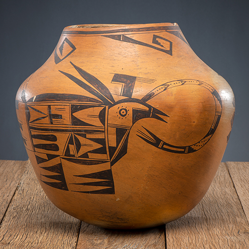 Nampeyo of Hano (Hopi, 1859-1942) Attributed, Pictorial Pottery Jar, From The Harriet and Seymour Koenig Collection