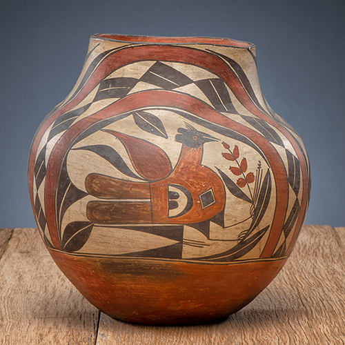 Acoma Four-Color Polychrome Pottery Jar, From The Harriet and Seymour Koenig Collection