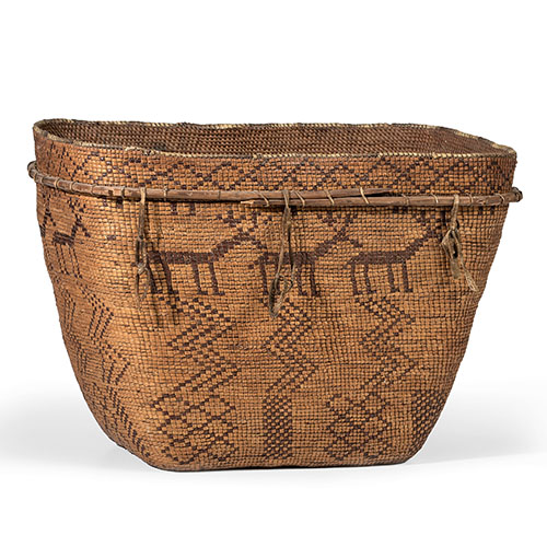 Chilcotin Imbricated Pictorial Basket, From The Harriet and Seymour Koenig Collection