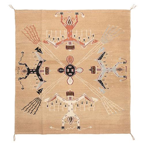 Helene Nez (Dine, 20th century) Navajo Multi-Award Winning Sandpainting Weaving