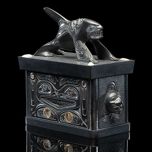 Alfie Collinson (Haida, b. 1951) Argillite Lidded Box