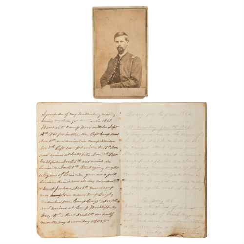1862 Diary of Union Officer Horatio P. Kile, Co. G, 41st Ohio Volunteer Infantry, Plus