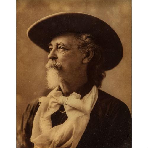 Buffalo Bill Cody, Rare Orotone Portrait