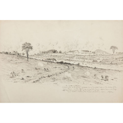 Edwin Forbes, Pen and Ink Sketch Depicting Pickett