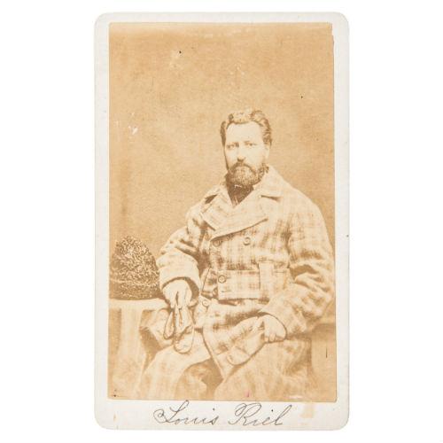 Métis Leader, Louis Riel, Exceptionally Rare Autographed CDV