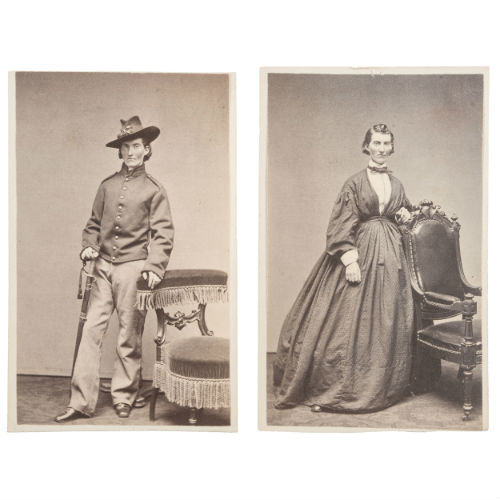 Pair of Civil War CDVs of Frances Clayton by S. Masury, Boston