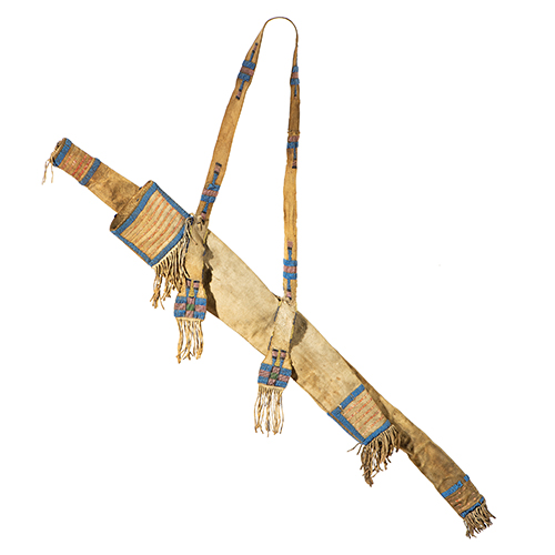 Sioux Beaded and Quilled Buffalo Hide Bowcase and Quiver