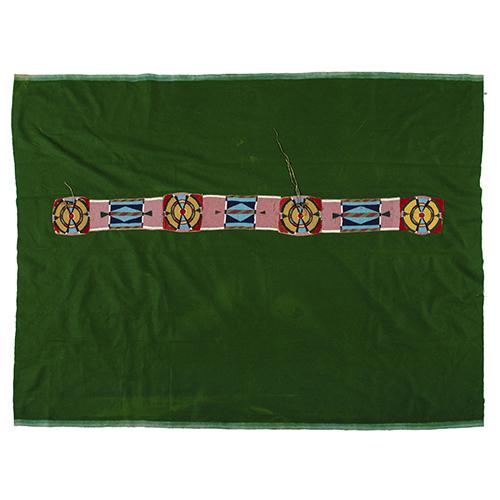 Apsaalooke Beaded Hide Blanket Strip with Blanket