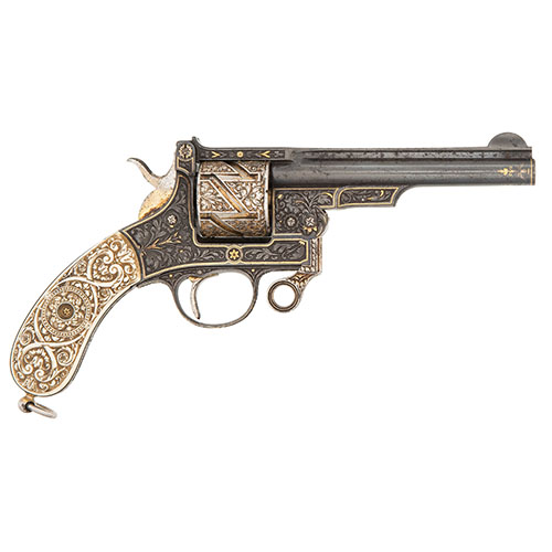 9mm Mauser Zig-Zag revolver with Superb Ivory Grips