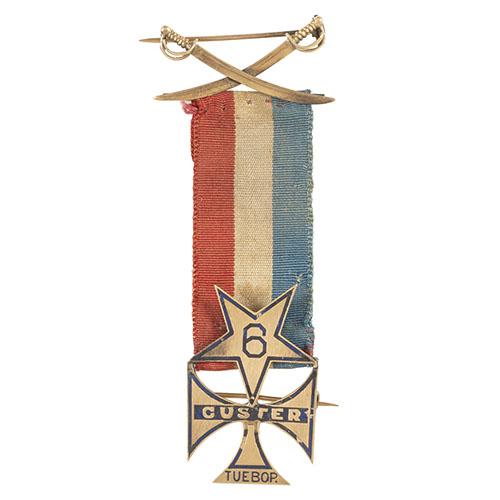 6th Michigan Cavalry, Custer Tuebor 14K Gold Badge