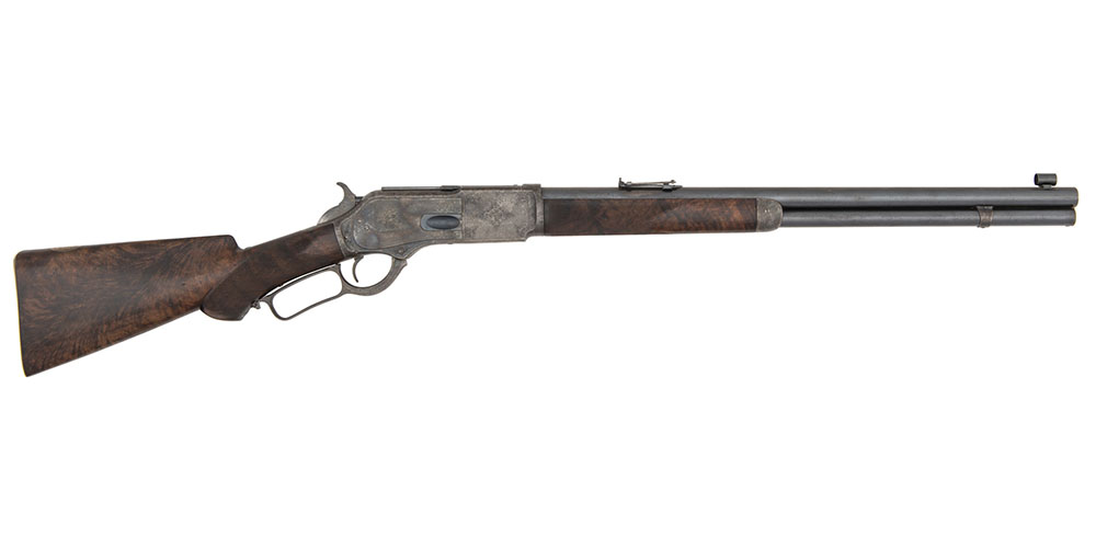 Big .50 Deluxe Winchester Model 1876 Short Rifle Made for Egyptian Sultan and Later King Fouad I
